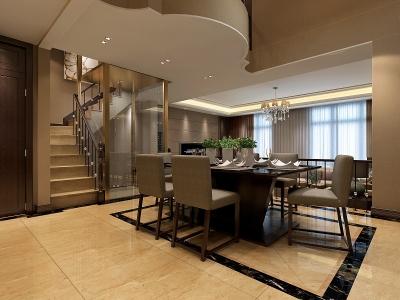 专家公寓650㎡别墅装修效果图